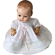 Vintage Organdy, Ribbon, and Lace Trim Baby Doll Dress-DyDee,Tiny Tears