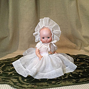 "Petite 1924 Dream Baby Type Doll in 8"" Size in Great Gown"