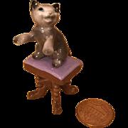 Wee Bone China Rascal Kitten for Doll House/Mignonette