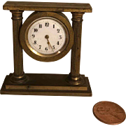 Wonderful Bronze Miniature Clock for French Fashion