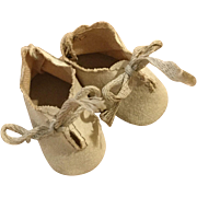 Scalloped-top Oilcloth Baby Doll Shoes