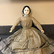 "18""  Covered Wagon China Head Doll-c.1875"