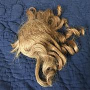 """Early 20c. Handmade Human Hair Wig Size 8-1/2"""""""