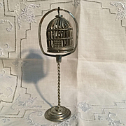 Great Soft Metal Doll House Bird Cage and Stand