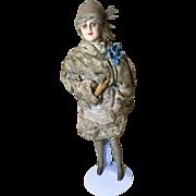 Rare WW1 Souvenir Paris Purse Doll