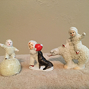 Three c. 1960s Snow Babies Made in Japan