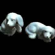 Pair of Wee German Doll House Pups