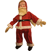 "1940s/50s Santa with Celluloid Face, 12"" Tall"