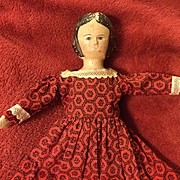 19c. Carved Wooden Head Doll