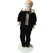 Artist Done Blond Unglazed Chinahead Doll & Ensemble