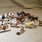 19c. Hand Carved Farm/Noah's Ark Animals