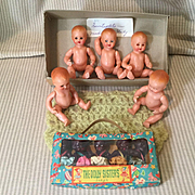 2 Sets of Quintuplets Dolls, One All Original