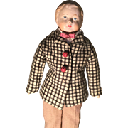 """17-1/2"""" Papier Mache' Head Young Man Doll-Germany"""