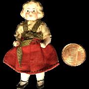"Dear 3"" German Antique Doll House Sister"