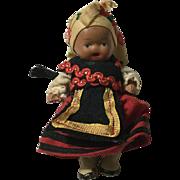 """Wee 3"""" Russian Doll in Regional Dress"""
