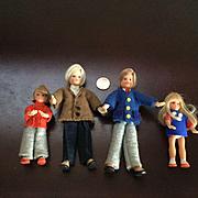 Vintage Flexible Doll House Family