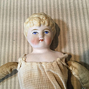 "C.1900 9"" Unglazed Bisque Doll to Dress"