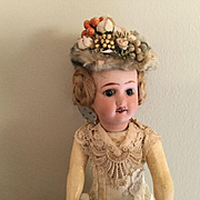 """Early 20c. French Doll-10"""" Cabinet Size"""
