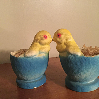 C.1920/30 Pair of Chick Candy Containers