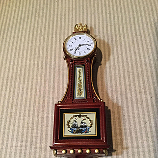 Miniature Federal Banjo Clock-Wood and Bronze