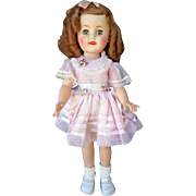 "Ideal Shirley Temple Doll 15"" 1950's All Original Beautiful Coloring"