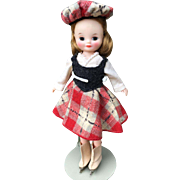 American Character Betsy McCall Doll 1950's  Plaid Outfit Hard to Find