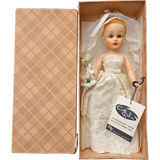 "10 ½"" Coty Girl Bride Doll R & B Mint in Box with Tag"