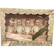 Madame Alexander fisher Quintuplets set mint in box