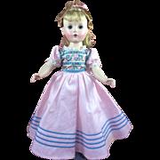 "Gorgeous 14"" Hard Plastic Amy Little women Madame Alexander Doll All Original"