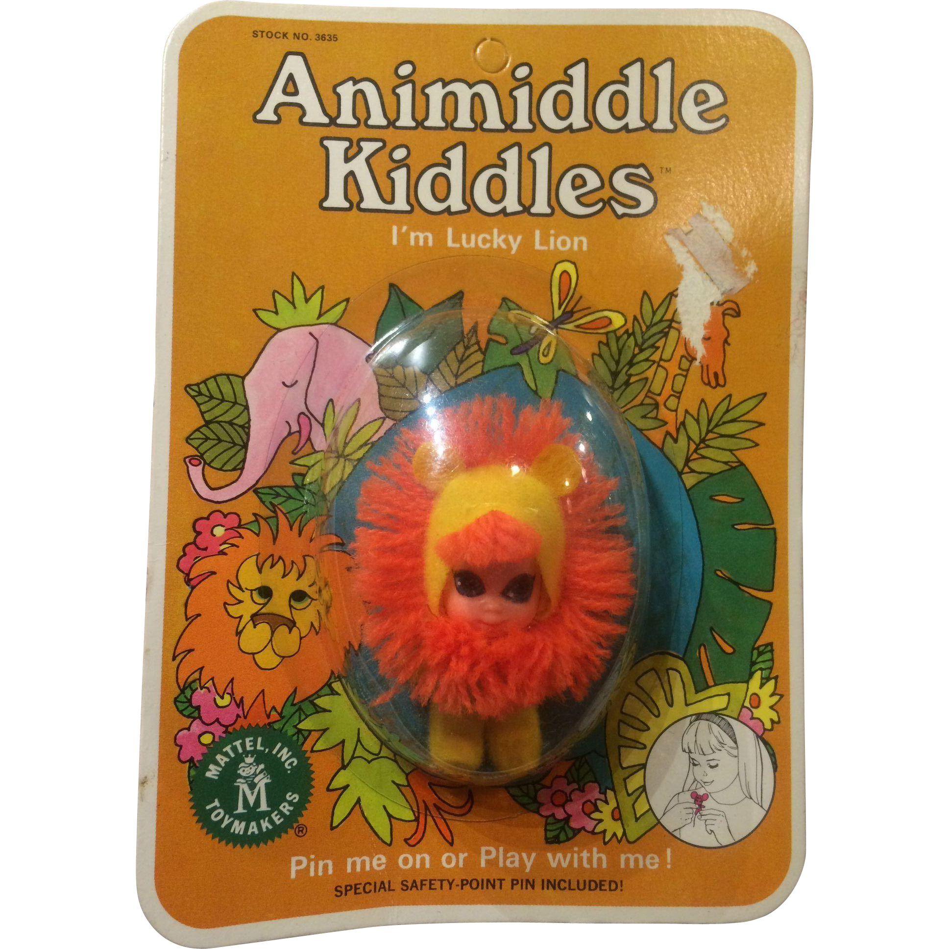 Liddle Kiddle Animiddle Lucky Lion Mint in Card 1960's