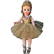 1959 Madame Alexander Gold Cissette Ballerina Beautiful Doll All Original