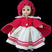 Madame Alexander-kin Straight leg Walker Red Riding Hood Doll 1950's Original