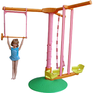 Pose 'N Play Skipper with her Swing Arounder Gym 1971