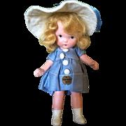 Nancy Ann Storybook Richman Poorman Molded Sock Doll All Original
