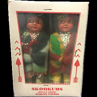 Mint in box Skookum Indian Doll Pair Perfext!