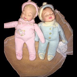 Terri Lee family so sleepy twin dolls