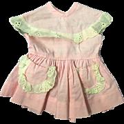"""Pink 16"""" Terri Lee doll dress tagged 1950's"""