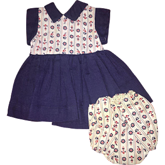 1950's Terri Lee Doll two piece dress and panties