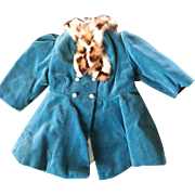 Terri Lee velvet tagged coat 1950's