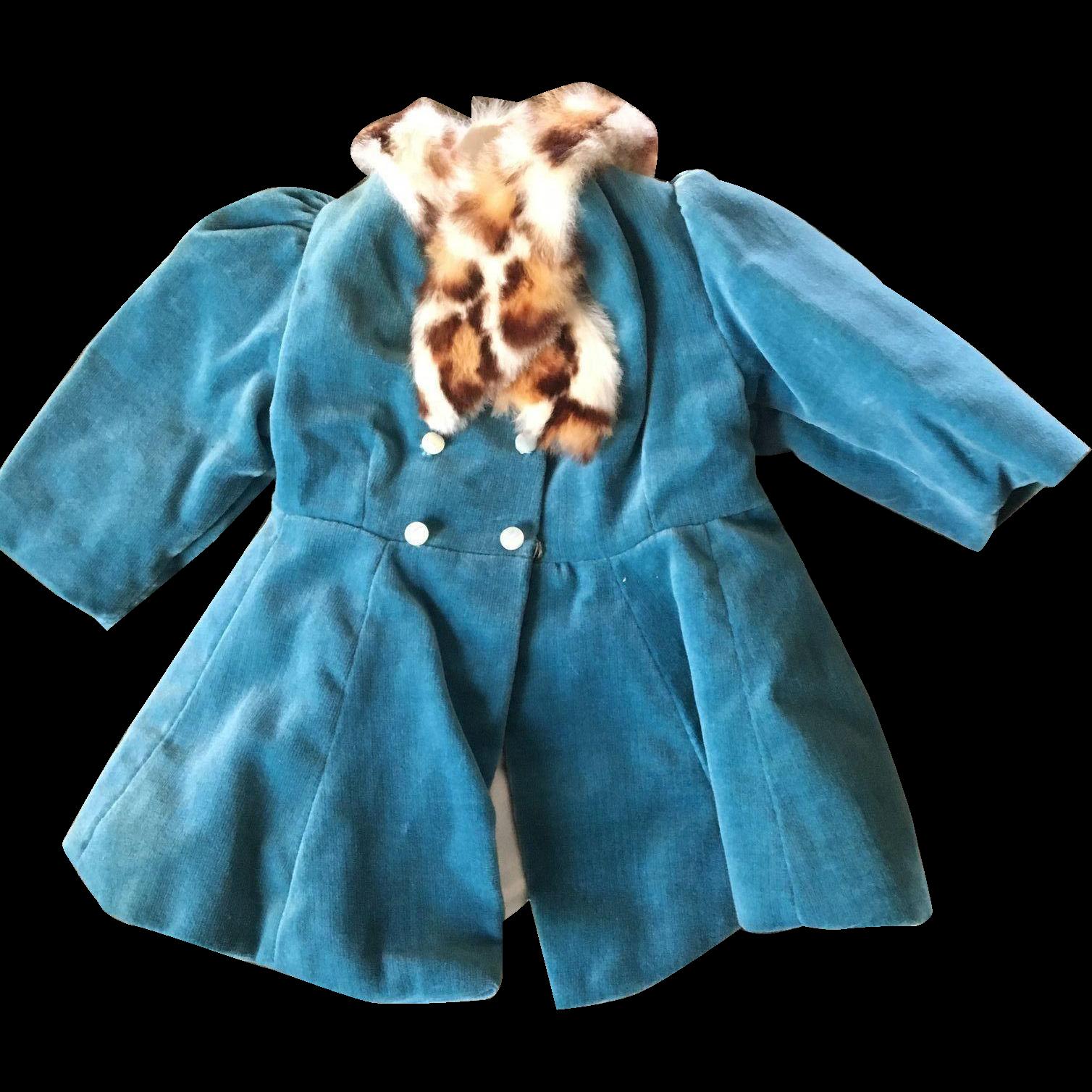 Terri Lee velvet tagged coat 1950's