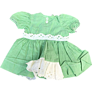Terri Lee 1950's green dress tagged