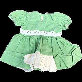 Terri Lee 1950's green dress tagged