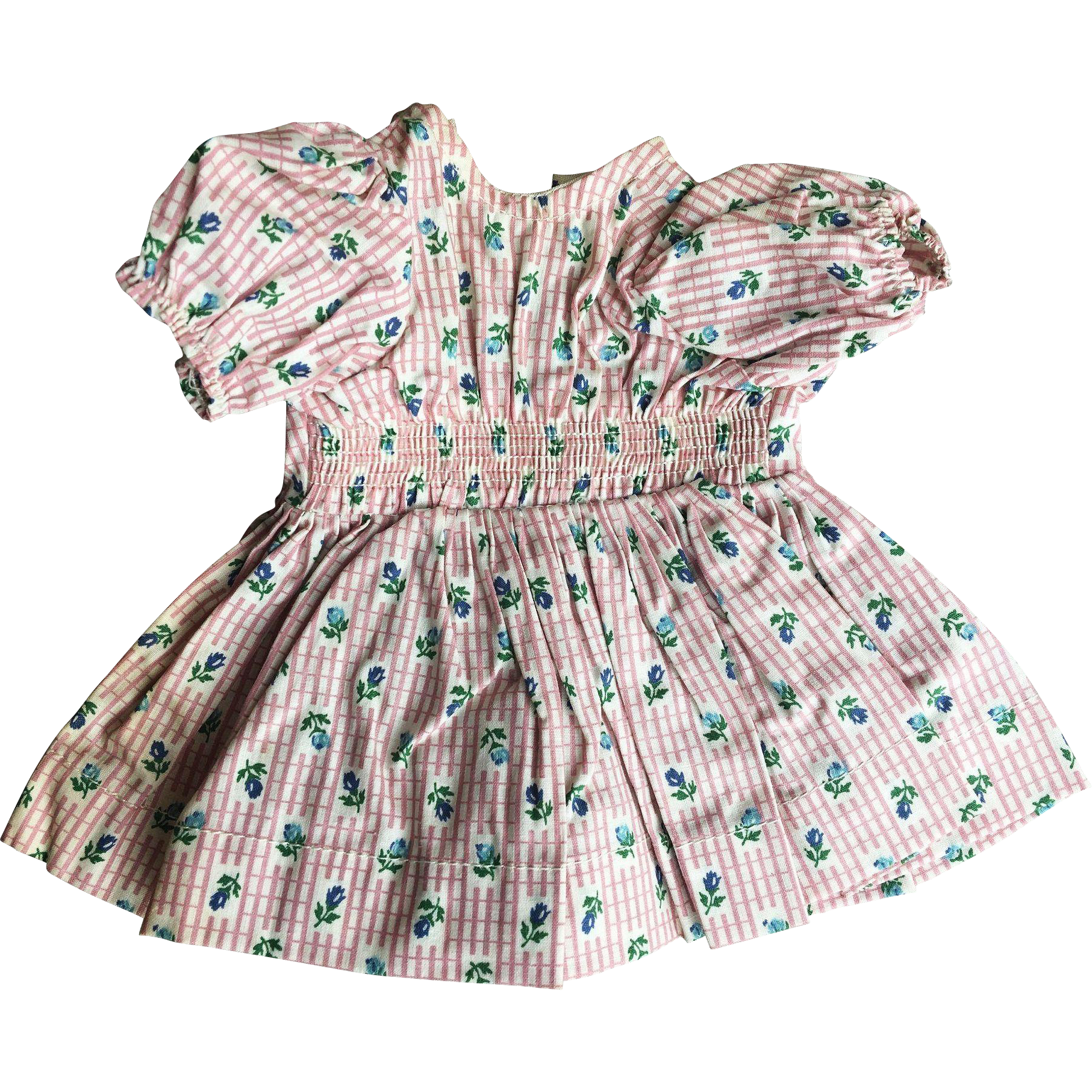 Terri Lee 1950's mint condition tagged dress smocked