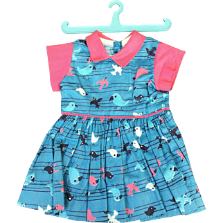 Terri Lee 1950's dress and hanger mint