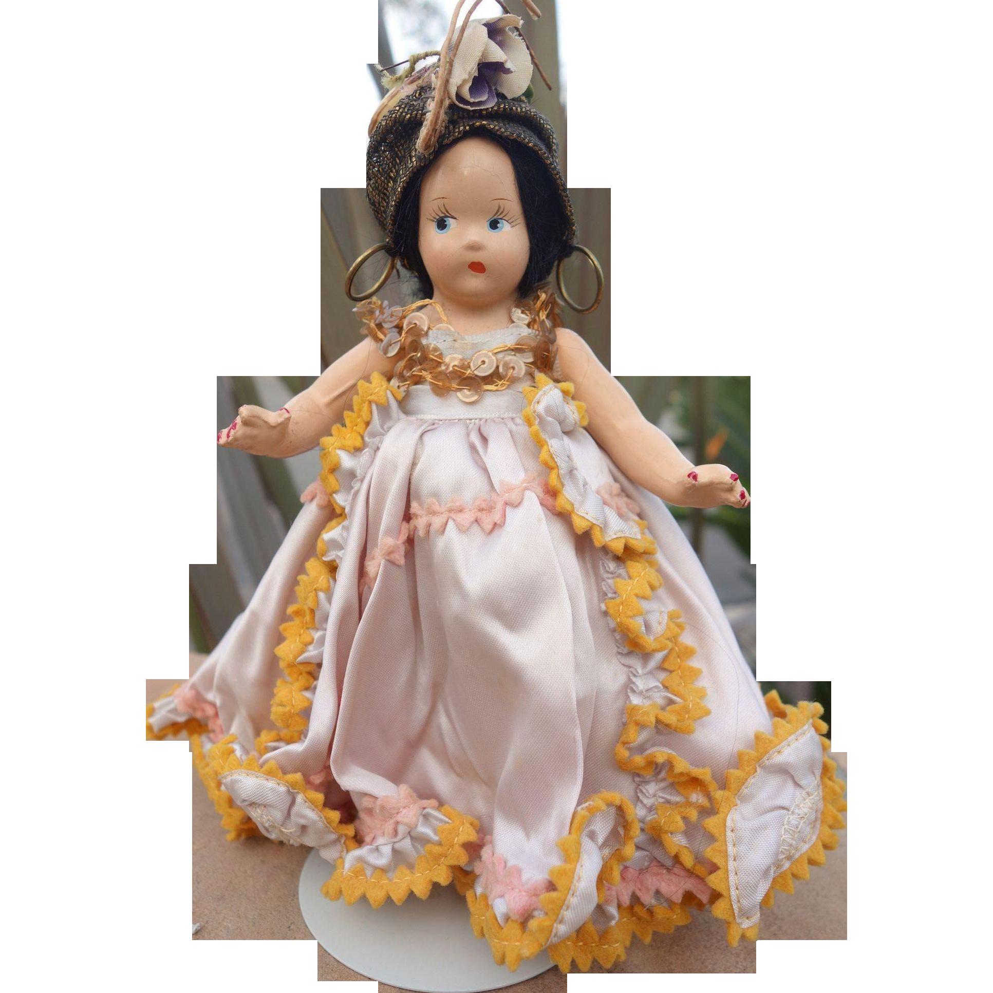 Madame Alexander Tiny Betty Carmen Miranda composition doll