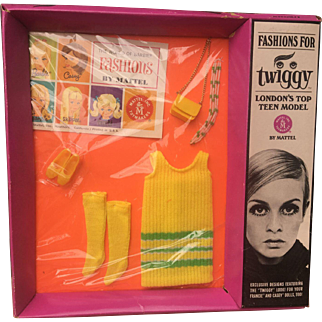 Twiggy Doll 1960's outfit Twiggy-Do's NRFB