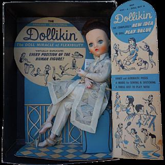 Uneeda Dollikin Doll All Original Mint in Box 1950's