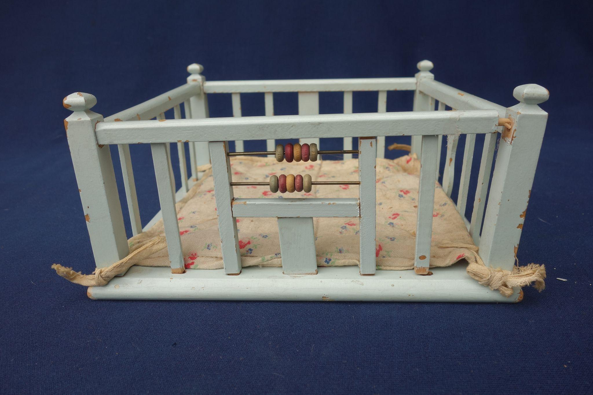 Set Of Vintage 1940 S 50 S Wooden Doll Furniture Baby S Room From