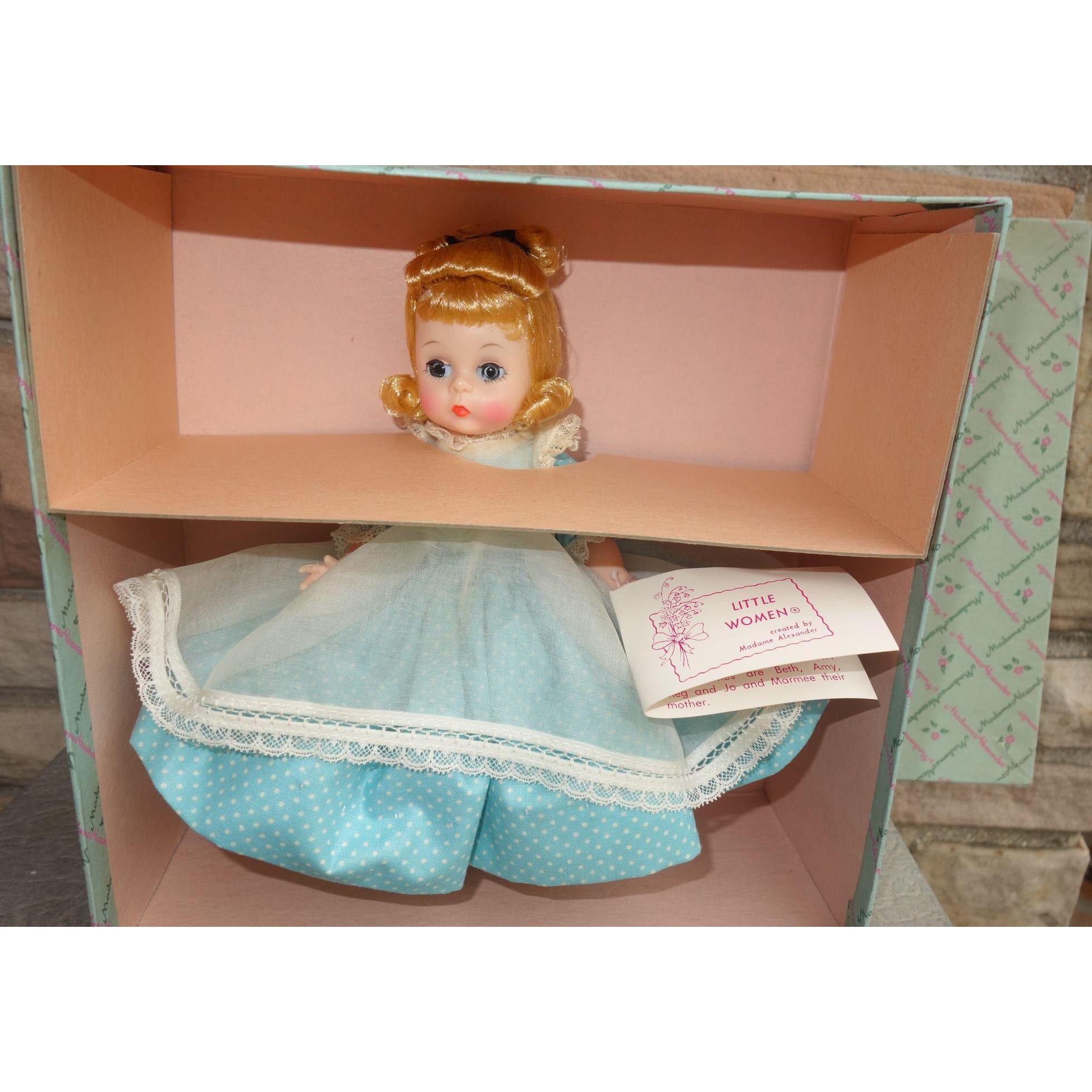 Madame Alexander Amy Bent Knee Walker Doll LIttle Women MINT IN BOX 1960's