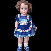 "Arranbee Hard Plastic 14"" Doll All Original Beautiful Coloring"